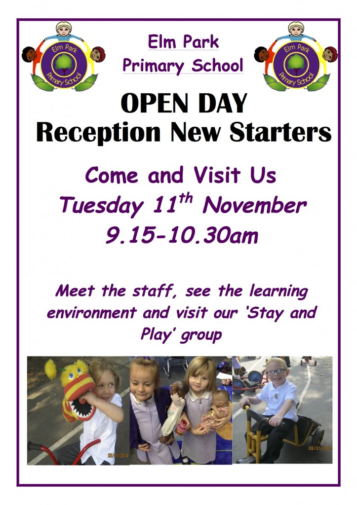 Reception new starters poster